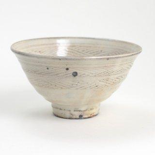 増田勉 粉引三島飯碗 大 径13.5cm 高さ7.5cm