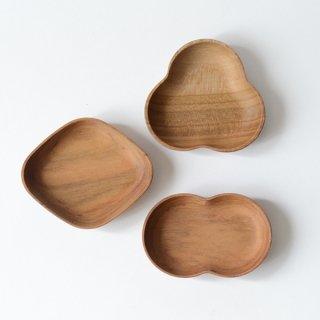 四十沢木材工芸 KITO 豆皿 ふたば みつば ひし