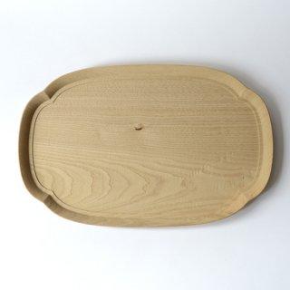 四十沢木材工芸 KITO 長木瓜盆 大 W36cm×D23cm×H1.9cm