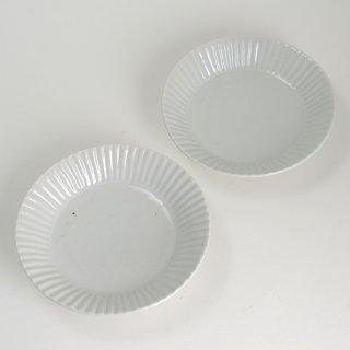 柳川謙治 青白磁線文4.5寸皿 φ13.5cm H3cm