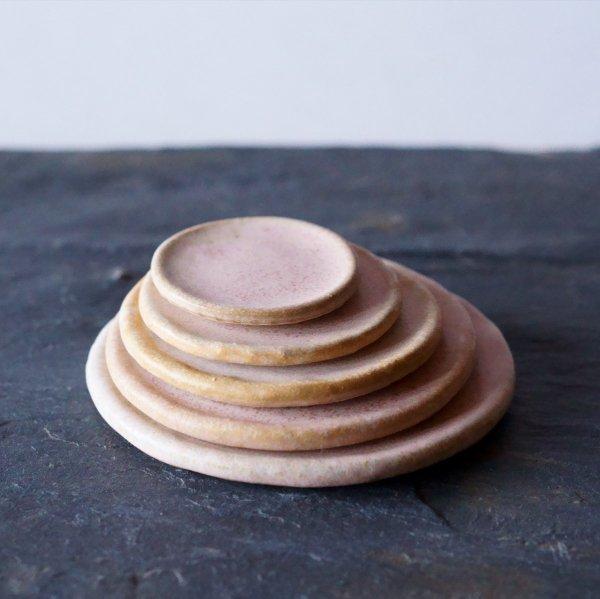 石木花の皿|桃