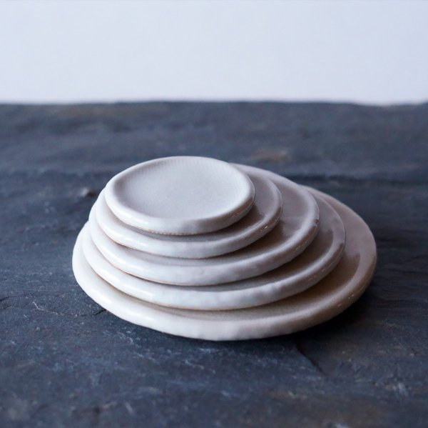 石木花の皿|白