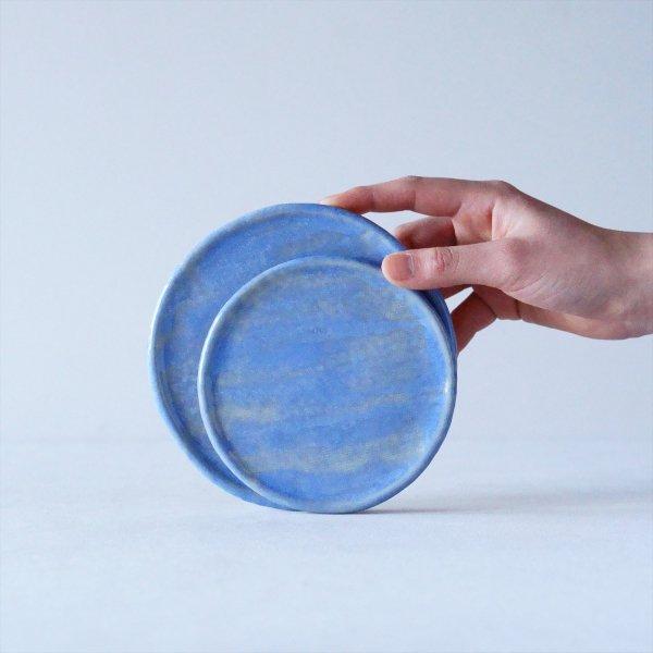 石木花の皿|3 - 4L|淡藤