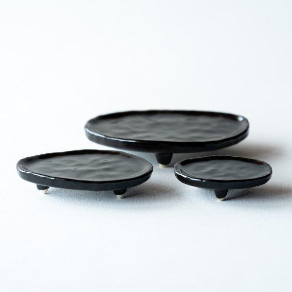 三足皿|銅黒