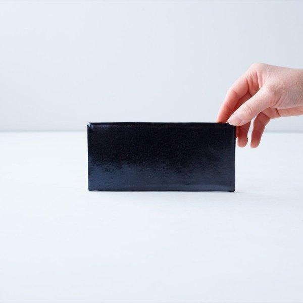 長角皿|黒