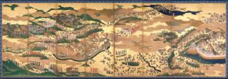 大阪歴史博物館所蔵品データ 【関ヶ原合戦図屏風-右隻】