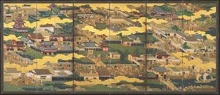 大阪歴史博物館所蔵品データ 【京大坂図屏風-大坂図】