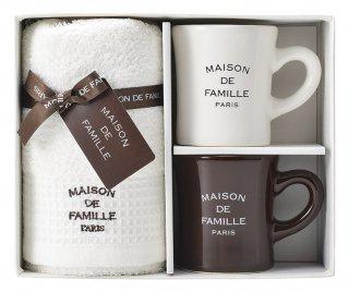 MAISON DE FAMILLE ナチュラル マグ&タオルセット