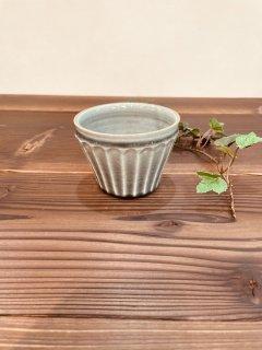 わかさま陶芸 グレー釉 ストレートカップ