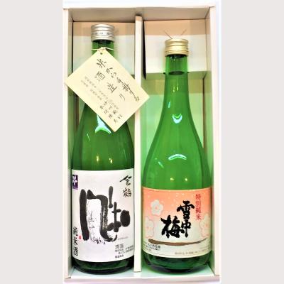 雪中梅特別純米酒と金鶴純米風和ギフトセット