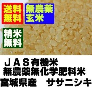 令和2年産 登米ライスサービス 無農薬米 宮城県登米産ササニシキ 玄米25kg
