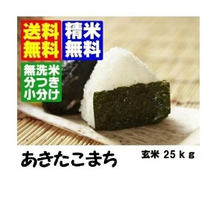 令和3年産 秋田県産あきたこまち 玄米25kg 精米・送料無料