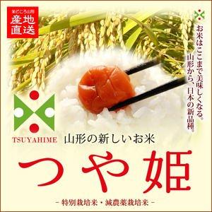 令和3年産 特別栽培米 山形県産つや姫 玄米25kg 精米・送料無料