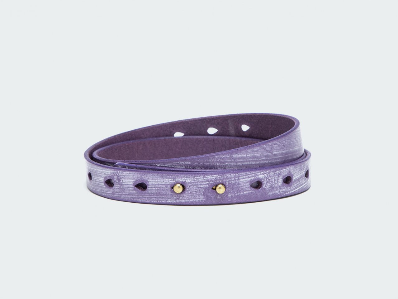 NARROW BUTTON (Bridle) 20 / PURPLE