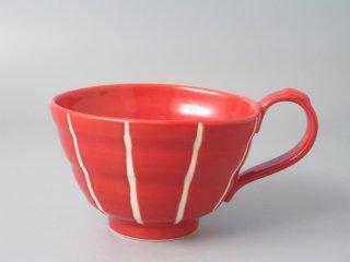スープカップ レッド十草