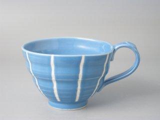 スープカップ ブルー十草