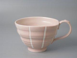 スープカップ ピンク十草