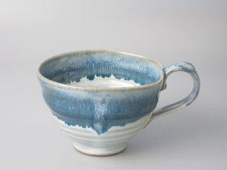 スープカップ 掛分ブルー