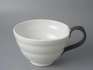 スープカップ ホワイト(取っ手黒)