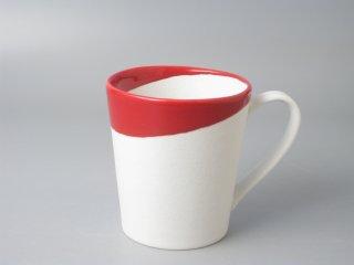 有田焼 つき立マグカップ(大)レッドスノー