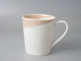 有田焼 つき立マグカップ(大)ピンクスノー