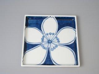 有田焼 桜紋14cm角皿