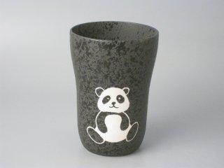 ビールの泡がクリーミーになる!有田焼 焼〆スリムカップ パンダ