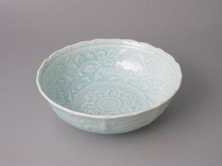 有田焼 青磁彫5寸小鉢