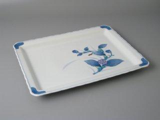 有田焼 染錦藍紫角盛皿