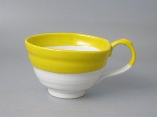 スープカップ イエロー流し
