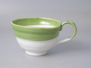 スープカップ グリーン流し