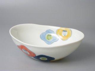 有田焼 楕円浅小鉢hanahana