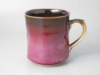 四郎窯作 <手造り>紫辰砂天目マグカップ