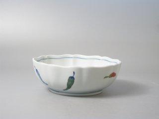 有田焼 からし絵 八方なぶり小鉢