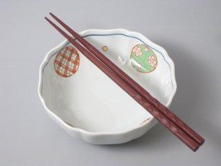 有田焼 錦丸紋 八方なぶり小鉢