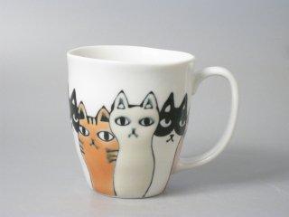 ネコ会議マグカップ