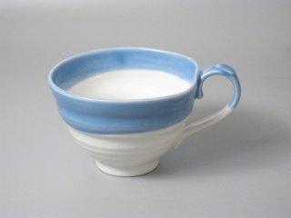 スープカップ ブルー流し