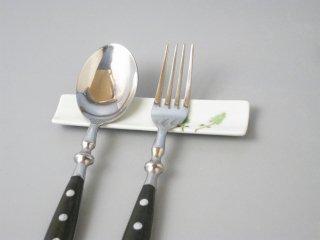 有田焼 スリム箸置き/レスト ツリー(緑)