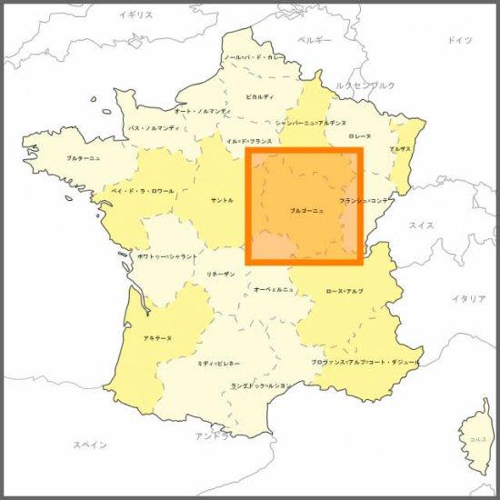フランス3Dマップ[ブルゴーニュ地方] ポストカードUV203PC付 UR101MP