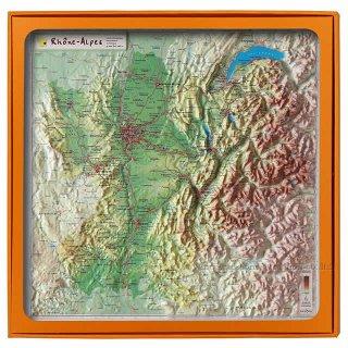 フランス3Dマップ(立体地図)[シャンパーニュ・アルデンヌ地方]ワインポストカードUV204PC付 UR105MP