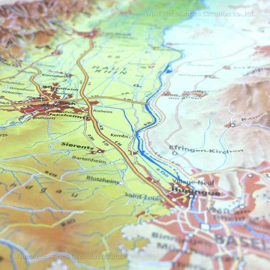 フランス3Dマップ(立体地図)[アルザス地方]ワインポストカードUV207PC付 UR107MP