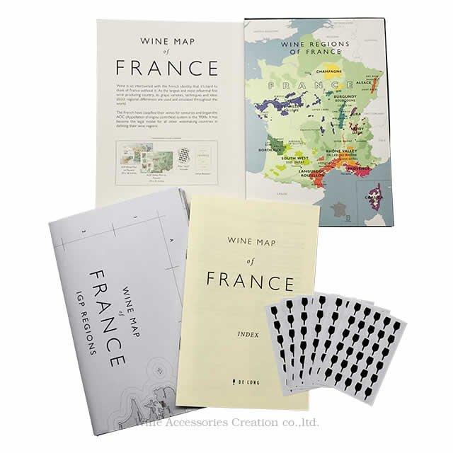 DE LONG フランス ワインマップ 折りたたみ式[ Wine Map of France ] UH201MP