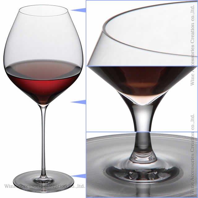 WINEX/STT バーガンディー ワイングラス 6脚セット【正規品】 GS101KCx6
