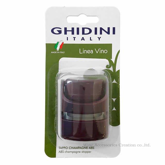 GHIDINI(ギディニ) ワンタッチ シャンパンストッパー レッド  MF012RE