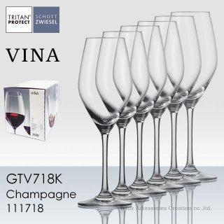 ショット・ツヴィーゼル ヴィーニャ フルート シャンパン EP 6脚セット【正規品】 GTV488Kx6