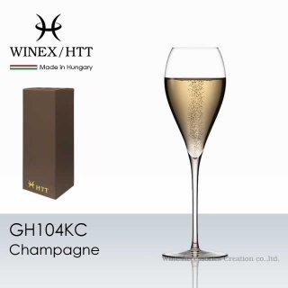 WINEX/HTT シャンパーニュ グラス ペア2脚セット【正規品】 GH104KC-2