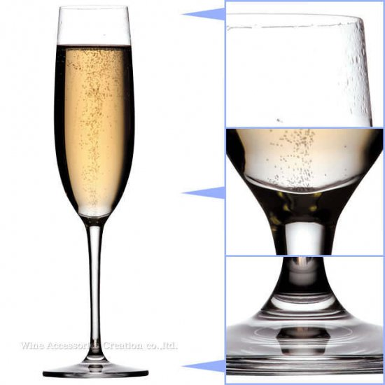 東洋佐々木 ファインクリスタル イオンストロング パローネ シャンパン 6脚セット 【正規品】 RN-10254CSx6