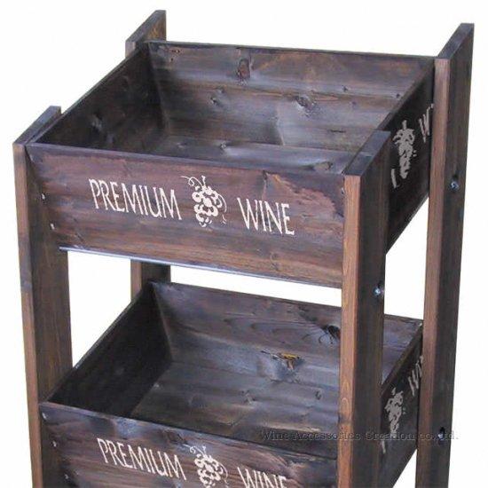 陳列用ワイン木箱 ブラウン RJ101BR