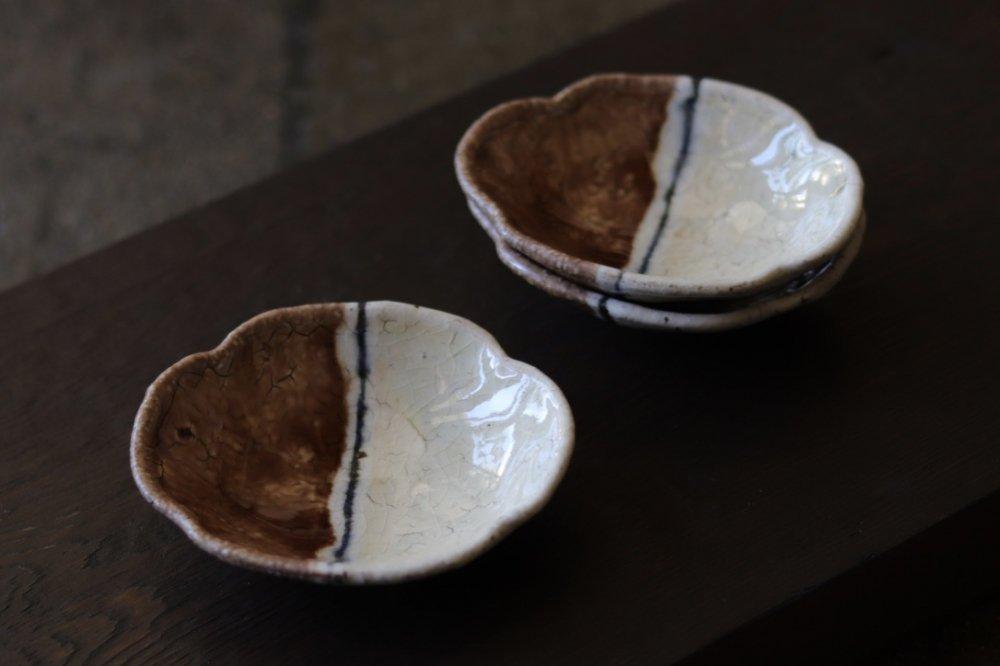 杉本太郎 手塩木瓜皿(紅白)