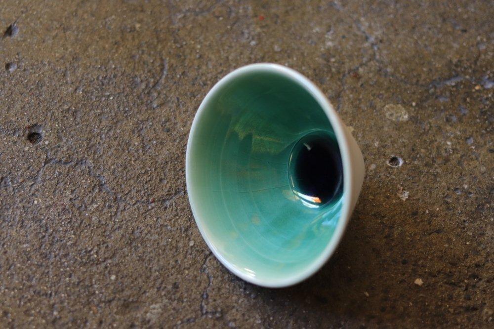 大胡琴美 緑釉 3寸小鉢